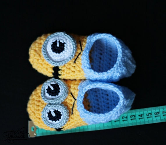 Free Pattern Crochet Minion Slippers : Crochet Minion Slippers galleryhip.com - The Hippest ...