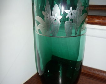 "The Cattleya Orchid glass vase 10""x4.5"""