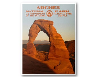 Arches National Park Travel Poster