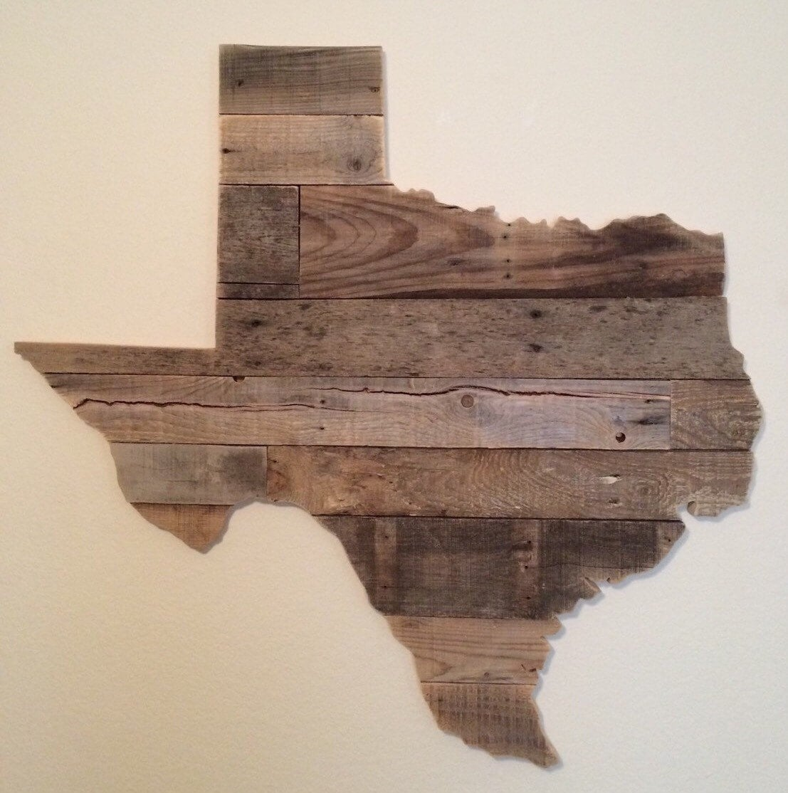Reclaimed Wood Signs: Large Reclaimed Wood Texas Sign