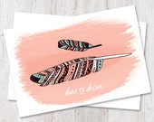 Hand drawn feather illust...