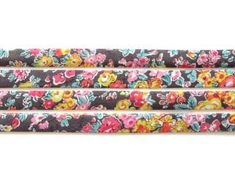 Liberty fabric bias binding 1x Yard of Tatum - M - 10mm, Liberty fabric UK, crafting and sewing supplies for jewellery makers UK