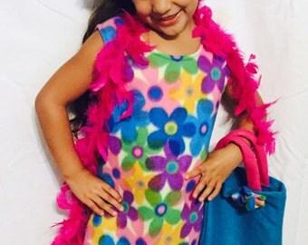 Girls Retro Disco Hippie Halloween Costume Size 3t/4t 5/6