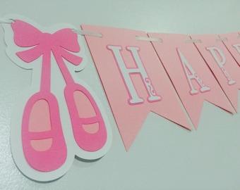Ballerina birthday banner, ballet banner, ballerina birthday, ballet party, ballerina party, ballet birthday banner