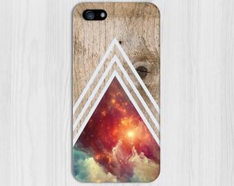 White Chevron Universe Dense Wood Phone Case,iPhone 7, iPhone 7 Plus, Tough iPhone Case, Galaxy s8, Samsung Galaxy Case, Note 5, CASE ESCAPE