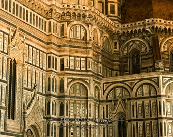 Florence Duomo at night - photo - Florence cathedral, Italy photograph, Florence Photo Tuscany Wall Art #vi94