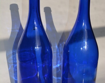 1.5L Glass Cobalt Blue Bottle