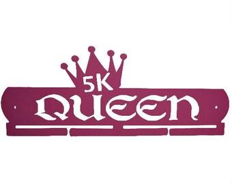 5k queen running medal hanger