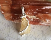 Raw Citrine Mini Pendant