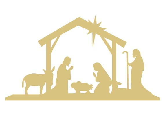 Nativity scene style 1 unfinished wood shape cut out variety for Nativity cut out patterns wood