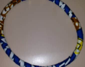 African Print Choker Necklace