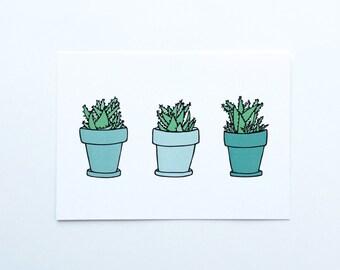 Succulent Art Print, Succulents Print, Succulent Print, Plant Print