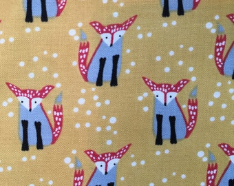Foxes on Gold by Dear Stella Fabrics Wee Gallery