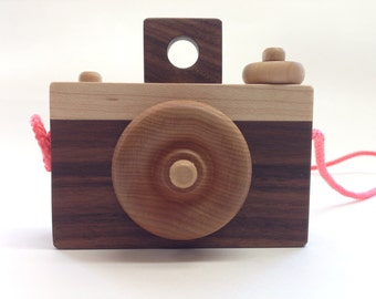 Hand Made Wooden Toy Camera - Waldorf-Inspired - Baby Gift - Toddler Gift - Shower Gift