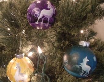 The Last Unicorn Christmas Ornament