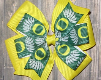 University of Oregon Ducks Hair Bow / Oregon Ducks Bow