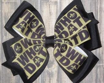 New Orleans Saints Hair Bow / Saints Bow / New Orleans Saints / Fleur de lis / Who Dat / Football Bow
