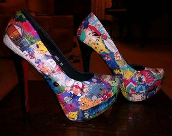 Custom made Pokémon high heel shoes