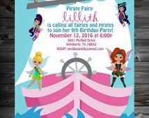 Disney's Pirate Fairy - Personalized Birthday Invitation