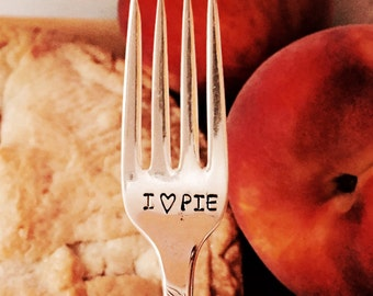 Cute baker gift, pie tasting fork, stamped fork, unique dessert fork, foodie gift,  gourmet gift created by The Paper Spoon