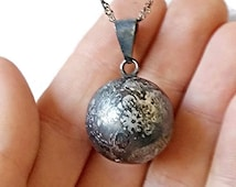 black harmony ball, wiccan ball, bali ball, wiccan pendant, pagan pendant, chime pendant, harmony pendant, valentines gift, gothic gift