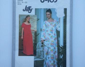 70s caftan / housedress / lounge wear / plus size vintage /70s dress pattern /vintage pattern, Size 18 20 large, Bust 40 42, Simplicity 8463