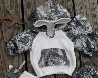 TrueTimber Tan Camo cuties hoodies .  Size NB to size 10. See options for Other Camo colors