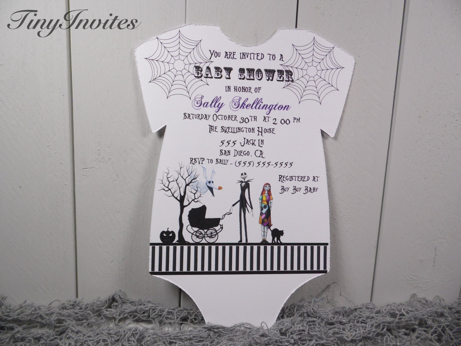 nightmare before christmas baby shower by tinyinvites on etsy