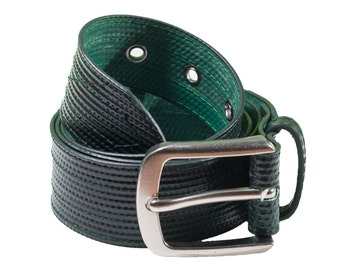 Recycled Black Hose Belt Similar to Fire Hose