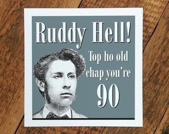 90th Birthday Card; 90th Birthday; 90 Age Card For Men; 90th Card For Granddad; Grandpa Card; 90; GC097