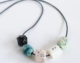 Ceramic Bead Necklace #3