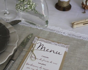 Menu range coton| |noces