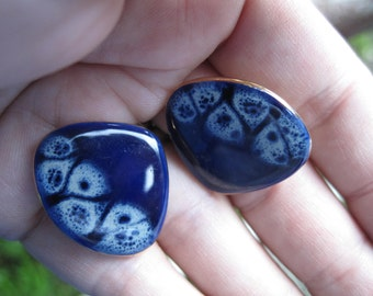 Modernist Ceramic Earrings -- 234