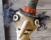 Extreme Primitive Witch - Ratty Tatty Roweena - Halloween Doll - FFFOFG