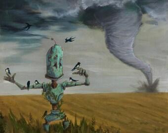 Tornado Bot robot painting print