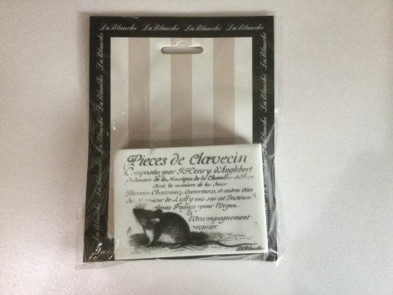 La Blanche Mouse silicon stamp