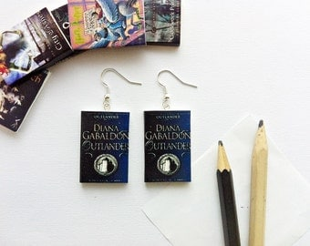 Diana Gabaldon Outlander mini book earrings