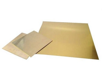 "Brass 24 ga, 6x6"" Sheet Metal, 0.51 MM - 43-704"