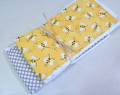 Bumble Bee Gender Neutral Burp Cloth Set
