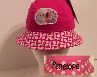 Disney Junior Frozen Sisters Anna and Elsa Applique Bucket Hat - Personalized