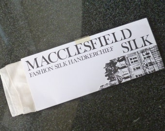 "Large ""Macclesfield Silk"" Handkerchief unused"
