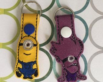 Good & Evil minions key fob/key chain