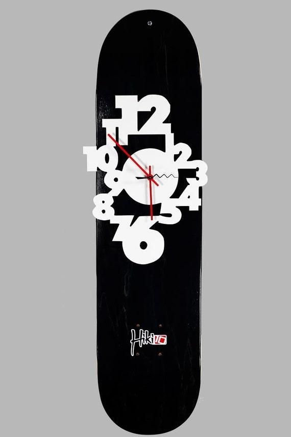 Skateboard Deck Wall Clock Skateboard Deck Room Decor Wall