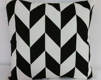 Black and Ivory pillow cover, Decorative throw  pillow, pillow cover, Shower gift, Black  Pillow cover,  pillow cover