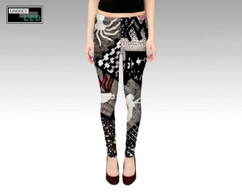 Objects Inside Shapes Leggings