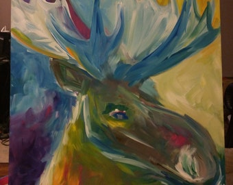 Moose Color Abstract (Electric)