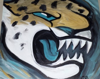 Jacksonville Jaguars Abstract Painting