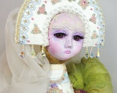 Art doll - OOAK Handmade - Bird of Paradise - Collectible doll - Interior doll - Russian folklore -  15 inch (37 cm) Sirin