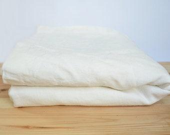 Linen bed cover - Ivory/milk white/bright white linen bedspread/ Coverlet/Summer blanket/ Single Queen King sizes