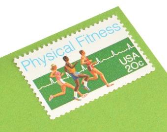 25 Physical Fitness Stamps - 20c - Vintage Unused Postage - 1983 - Unused - Quantity of 25